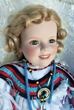 "Danbury Mint Shirley Temple THE LITTLE PEACEMAKER 18"" Porcelain Doll in Box"