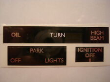 60-7004 TRIUMPH 750 T140 3 WARNING LABELS VINYL DECAL