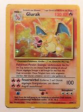 Pokemon Karte | GLURAK 4/102 | Holo | 1. Edition | Rückseite beschädigt