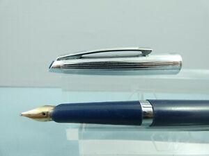 "Vintage Waterman's Ideal Blue/Steel Fountain Pen, CT, Needs a Filler  ""REPAIR"""
