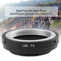 Caméra Adaptateur de Lentille Bague pour L39-FX LEICA M39 vis à Fujifilm X-Pro1