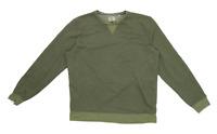 Next Mens Size L Cotton Blend Green Zip Up Sweatshirt