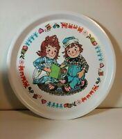 "Vintage Raggedy Ann & Andy Plate 1969 Oneida 8 1/2"""