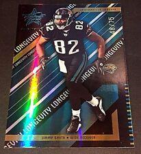 JIMMY SMITH 2004 Leaf Rookies & Stars Longevity BLACK Card #44 SN #d /75 JAGUARS
