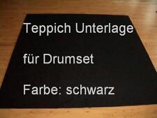 12,50 €/m² Teppich Unterlage für Drumset Drum schwarz 200x200 NEU