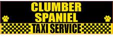 Clumber Spaniel Taxi Service Dog Sticker