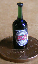 1:12 botella de vidrio real de Stella Artois muñeca casa miniatura Bar Accesorio Lager