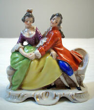 VINTAGE MARUYAMA MADE IN OCCUPIED JAPAN COLONIAL COUPLE PORCELAIN FIGURINE