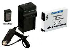 Battery + Charger for Samsung HMX-U100RN HMX-U100EN M100 M310W PL55 PL57 SL720