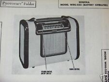 SONORA WDU-233 PORTABLE RADIO PHOTOFACT