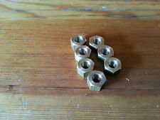 A Set of 7 Austin 7 Seven Chummy Box Ruby Pearl Opal Manifold Brass Nuts