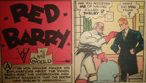 RED BARRY by WILL GOULD 5 Sundays fast A3 1935-1938 Sonntagsseiten