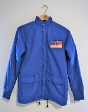 The Hundreds Down Jacket Size S blue Adam Bomb Logo patch USA