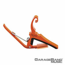Kyser KG6OA Quick Change 6 String Acoustic Guitar Capo, Orange Blaze