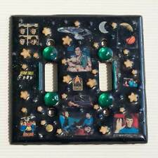 Ooak Artist signed Classic Star Trek 2 Hole Light Switch Cover Plate 80's