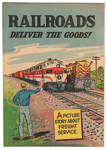 RAILROADS DELIVER THE GOODS #1 9.2 OW PAGES GIVEAWAY BILL BUNCE SILVER AGE