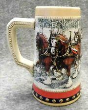 (1988) Budweiser Clydesdale Collector's Series Anheuser Busch Beer Stein Mug