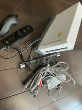 Nintendo Wii White Console Bundle w/ Remotes/Covers, Nunchuck, Cables, Bar
