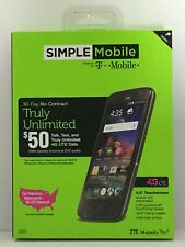 Simple Mobile📲Powered by T-Mobile ZTE Majesty Pro 4G LTE No-Contract Android 4.