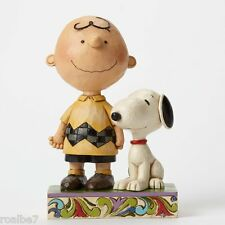 Jim Shore Peanuts Collection Life is Better with A Dog Charlie Brown and Snoopy