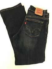 Levis Womens Jeans Size 6 Short Relaxed Fit Boot Cut Dark Wash (K