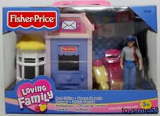 FISHER PRICE SWEET STREETS POST OFFICE 2003 LOVING FAMILY DOLLHOUSE NEW Mail Man