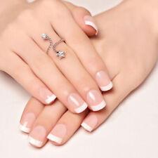 24Pcs/Box Short French Art Nails Acrylic Faux Fingernails Removable Manicure H33
