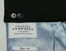 CHARLES TYRWHITT Men's 44R Charcoal 2B Wool SLIM FIT Suit + Pants 34 X 31