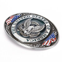 Western style New USA American flag eagle metal alloy fashion Men Belt.Buckles!