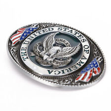 Western style New USA American flag eagle metal alloy fashion Men Belt Buckle XW