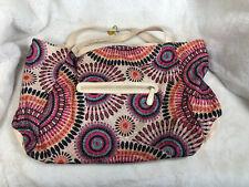 BIG BUDDHA LARGE Shiny TOTE BAG WITH Silver Clutch Purse Carryall Handbag
