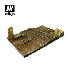 VALLEJO SCENICS - COUNTRY CROSSROAD WITH RAILWAY (31x21CM) - SCALE 1:35 - SC104