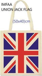 """Union Jack Flag X-Large(50x40+60) 100% Cotton Canvas Tote Reusable Bags """"lot"""""""