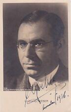 LUDWIG WEBER opera bass signed photo, London, 1936