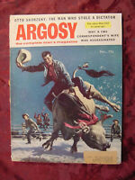 ARGOSY magazine December 1955 USS WASP Hobson Richard Ferber Alan Scholefield