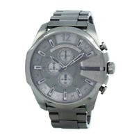 100% New Diesel DZ4282 Mega Chief Grey Dial Gunmetal Chronograph Men's Watch