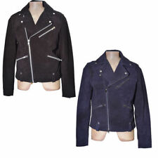 Topman Men's Leather Zip Biker Jackets