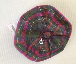 NWT Gymboree Fall Forest 2T-5T Herringbone Plaid Hat