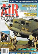Air Classics Sept.09 Canada Hawk One Sabre Gunner Propliner Emil Messerschmitt