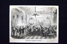Radunanza di Repubblicani a Marsiglia Incisione del 1871