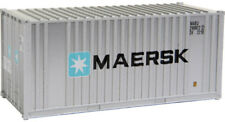 Walthers HO Scale 20' Ribbed-Side Shipping Intermodal Container Maersk
