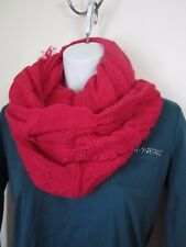 Pink Cashmere Like Solid Loop Cold Weather Scarf Infinity Style NWT