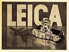 1949 Leica Kamera Tannenzweig 14x12 cm original Printwerbung