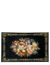 Victorian Trading NWD Still Life Of Flowers Tole Painted Roses Kitchen Rug 34F