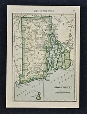 1911 Hammond Map - Rhode Island - Providence Newport Narrangansett Bay Warwick