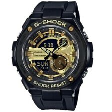 Casio G-Shock G-Steel GST-210B-1A9 Black Gold Digital Analog Men's Sports Watch