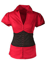 Figurbetonte Kurzarm Damenblusen, - tops & -shirts für Party-Blusen im