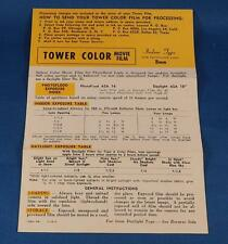 Vintage Tower Color Movie Film Instructions