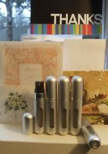 5X 5ml Travel Mini Refillable Perfume Atomizer Bottles Pump Spray(5 PACK)SILVER
