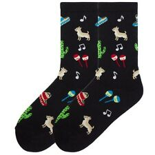 Womens K Bell Chihuahua Hat Dance Black Crew Socks 9-11 NWT 1 pair novelty dog